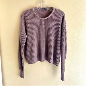 [BRANDY MELVILLE] Mocha Knit Pullover Sweater